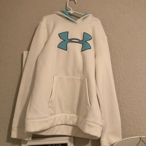 Under Armour Tops - white and blue under armour sweatshirt